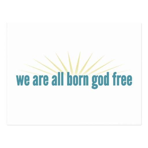 Somos todos dios nacido libremente postal
