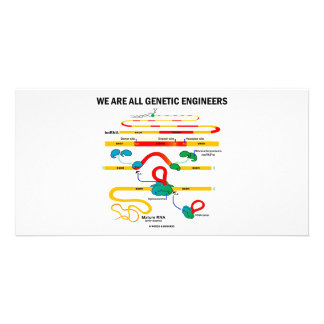 Somos todos ingenieros genéticos (el empalmar del tarjetas personales con fotos