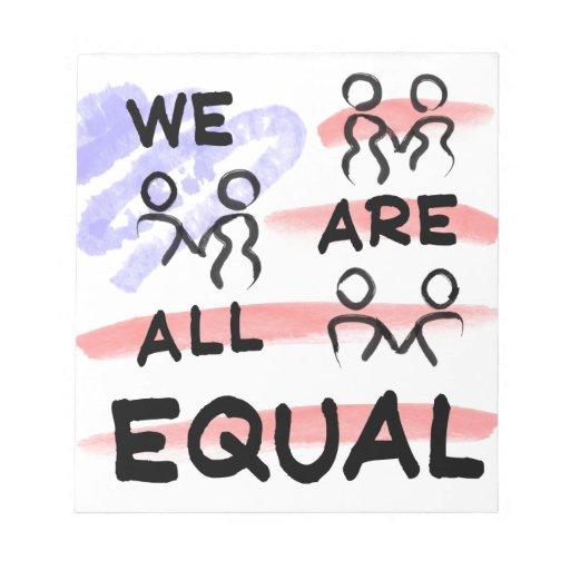 Somos todos logotipo de la bandera americana del i bloc