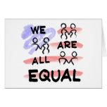 Somos todos logotipo de la bandera americana del i tarjetón