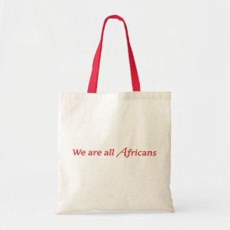 Somos todos los africanos bolsa tela barata