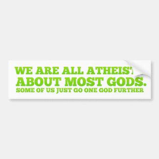 Somos todos los ateos pegatina de parachoque