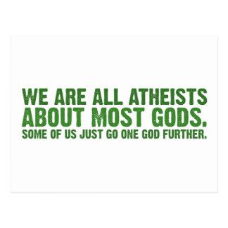 Somos todos los ateos sobre la mayoría de los dios tarjetas postales