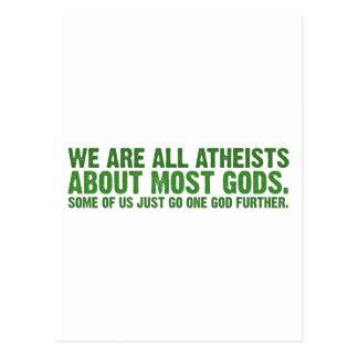 Somos todos los ateos sobre la mayoría de los postal