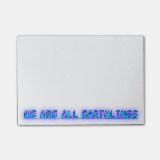 Somos todos los Earthlings Notas Post-it®