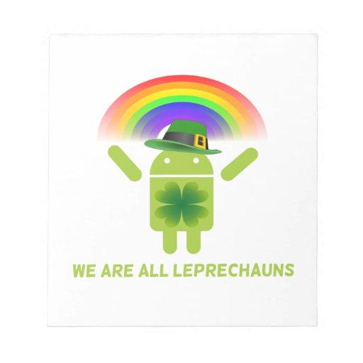 Somos todos los Leprechauns (el arco iris de Bloc De Papel