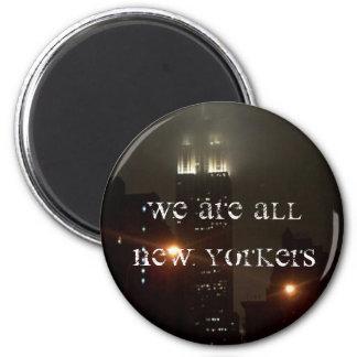 Somos todos los neoyorquinos imán redondo 5 cm