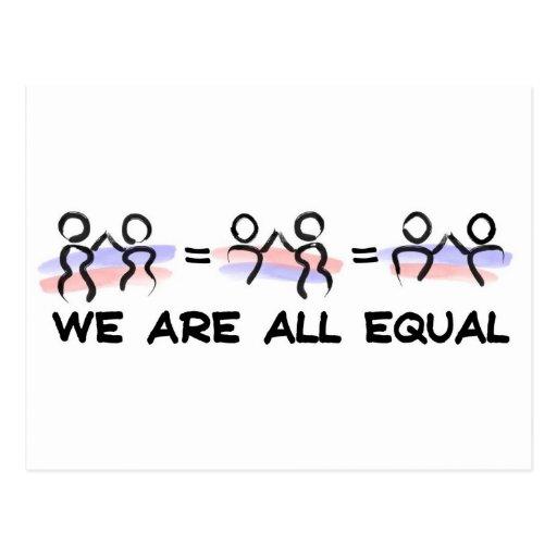 Somos todos los pares del igual postal