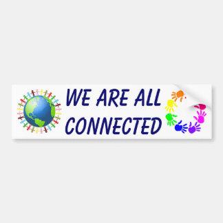 Somos todos pegatina para el parachoques conectada pegatina para auto