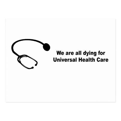 Somos todos que mueren por atención sanitaria tarjeta postal