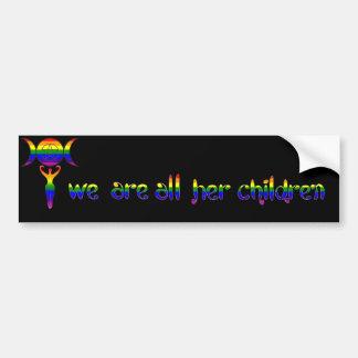 Somos todos sus niños - orgullo del Pagan de LGBTQ Pegatina De Parachoque