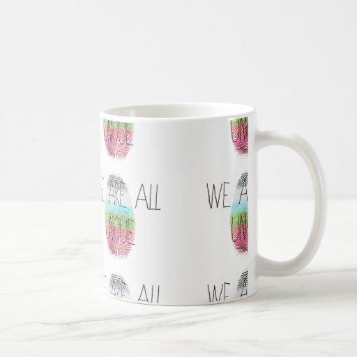 somos todos únicos taza de café