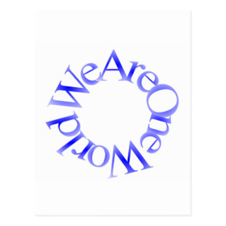 Somos un mundo (azul) postales