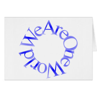 Somos un mundo (azul) tarjeta de felicitación
