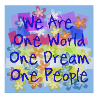 Somos un mundo posters