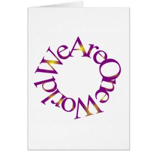 Somos un mundo tarjeta de felicitación