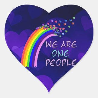 Somos una personas pegatina en forma de corazón