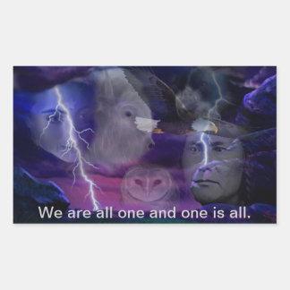 Somos uno y uno es todo pegatina rectangular