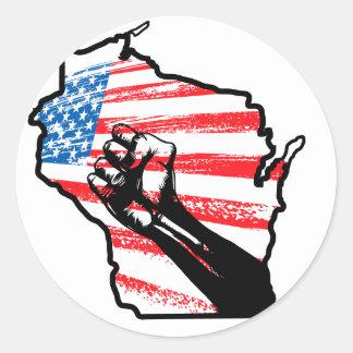 Somos Wisconsin Pegatinas Redondas