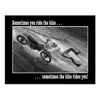 Somtimes you ride the bike... postcard