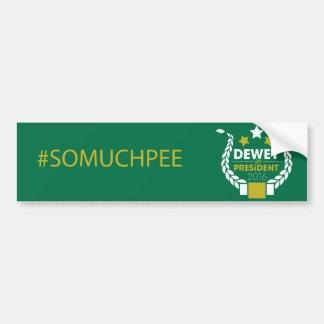 #somuchpee bumper sticker