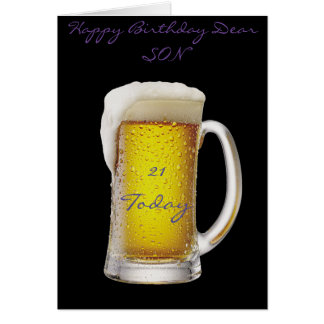SON 21ST GREETING CARD