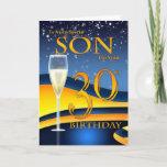 "Son 30th Birthday Greeting Card  Special Son<br><div class=""desc"">A modern trendy card for Son's 30th Birthday</div>"