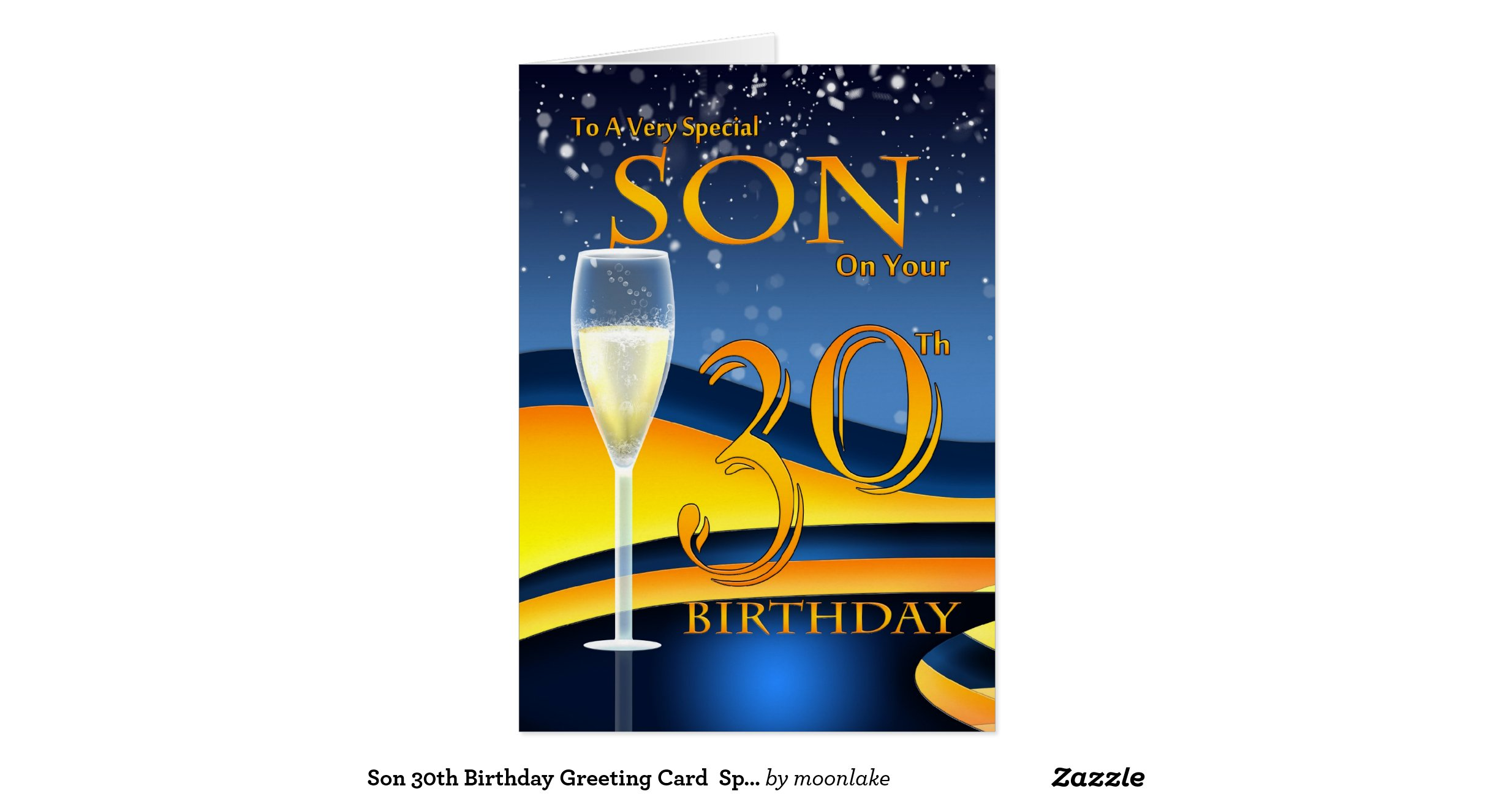 Th Birthday Cards For My Son ~ Son th birthday greeting card special
