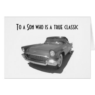 SON=A TRUE CLASSIC IN EVERY WAY GRADUATION GREETING CARD