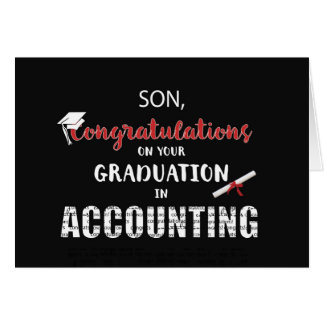 Son, Accounting Graduation Congratulations, B Card