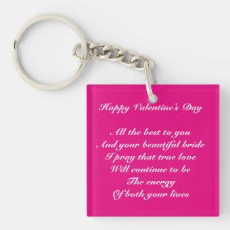 Son and bride valentine's day keychain