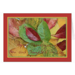 Son and Daughter in Law fall foliage thanksgiving Card