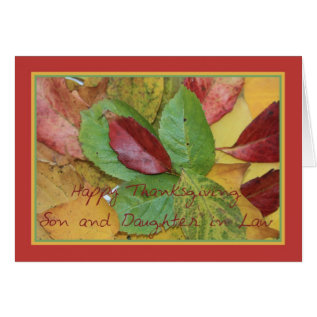 Son and Daughter in Law fall foliage thanksgiving Card at Zazzle