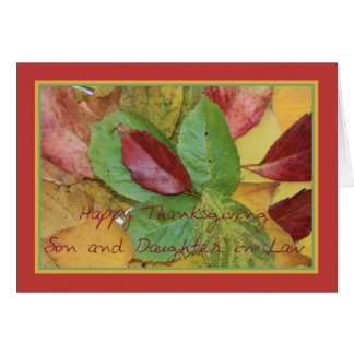 Son and Daughter in Law fall foliage thanksgiving Greeting Card