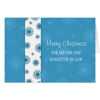 Son and Daughter in Law Merry Christmas Card