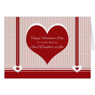 Son and Daughter in Law Valentine's Day Card