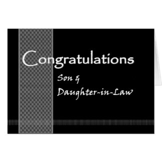 Son and Daughter-in-Law Wedding Congratulations Greeting Card