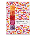 Son and Girlfriend Colored Valentine's Day Greeting Card
