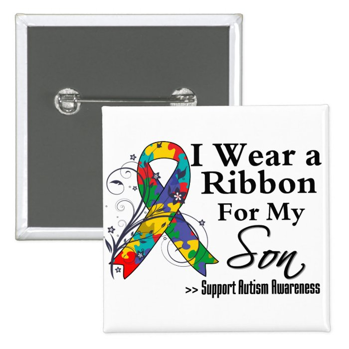 Son - Autism Ribbon Button