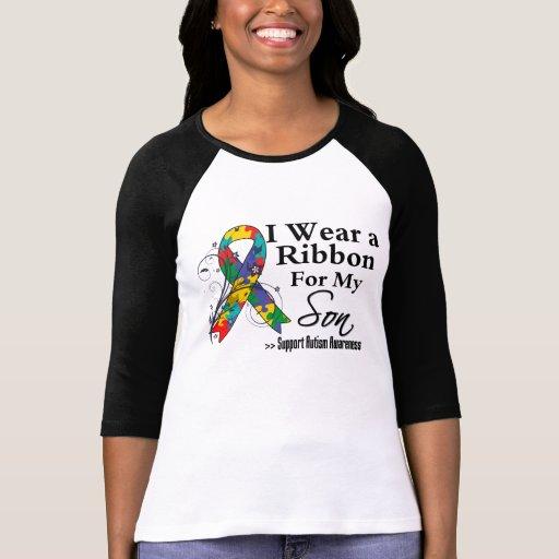 Son - Autism Ribbon T Shirts