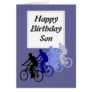 Son, Birthday, Bike, Cycle Funny From Parent Greeting Cards
