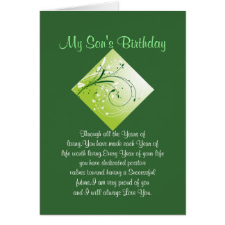 Son Birthday Card