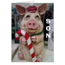 SON=CHRISTMAS PIGGY-NO MARKET-JUST CHRISTMAS WISH CARD