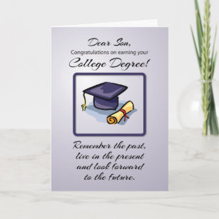 Son College Graduation Cards Zazzle