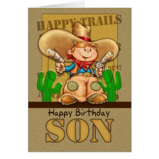 Son Cowboy Birthday Card - Rootin' Tootin' Birthda