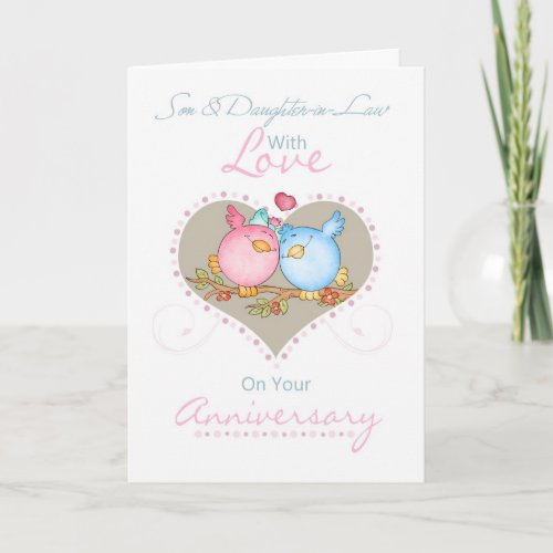 Son  Daughter_In_Law Anniversary Card With Love B