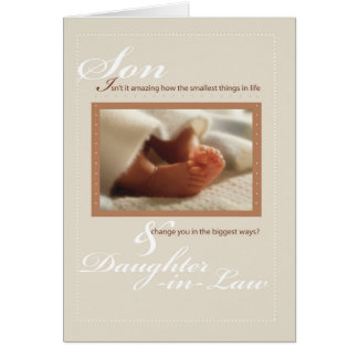 Son & Daughter-in-Law Congratulations New Baby F Card
