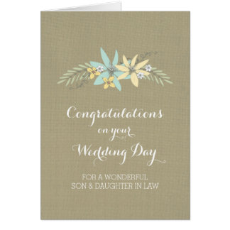 Son Daughter In Law Congratulations Spring Floral Card