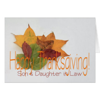 Son & Daughter in Law  thanksgiving foliage Greeting Card