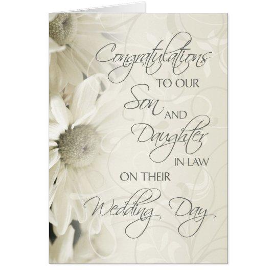 Son Daughter In Law Wedding Congratulations Card